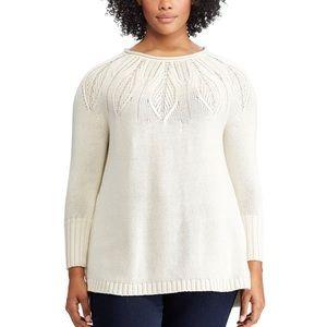 05370776f5c Chaps Sweaters - Plus Size CHAPS Cable Knit Crewneck Sweater